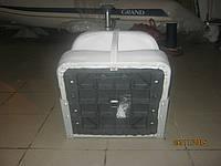 Сиденье складное мягкое для установки на стойку или поворотный элемент, серое в катер