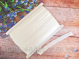 Бейка-резинка для повязок, цвет БЕЛЫЙ (с блестками), 15 мм