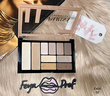 Набор для макияжа Parisa Е-405 Тени для век & Хайлайтер & Скульптор 02