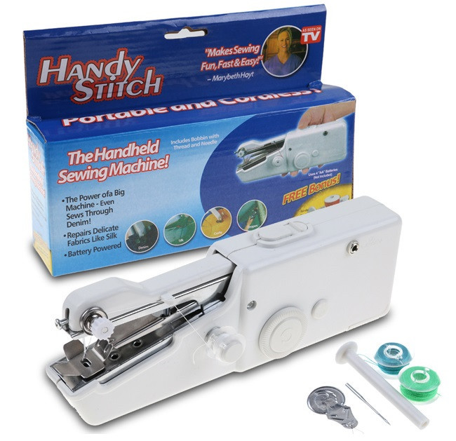 Ручная швейная машинка handy stitch Singer sewing machine миниАтюрная портативная компактная Швейка