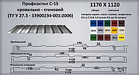Профнастил С-15 оцинкований 0,5 мм стіновий, фото 1