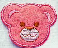 Аппликация  (термо) мишка роз.