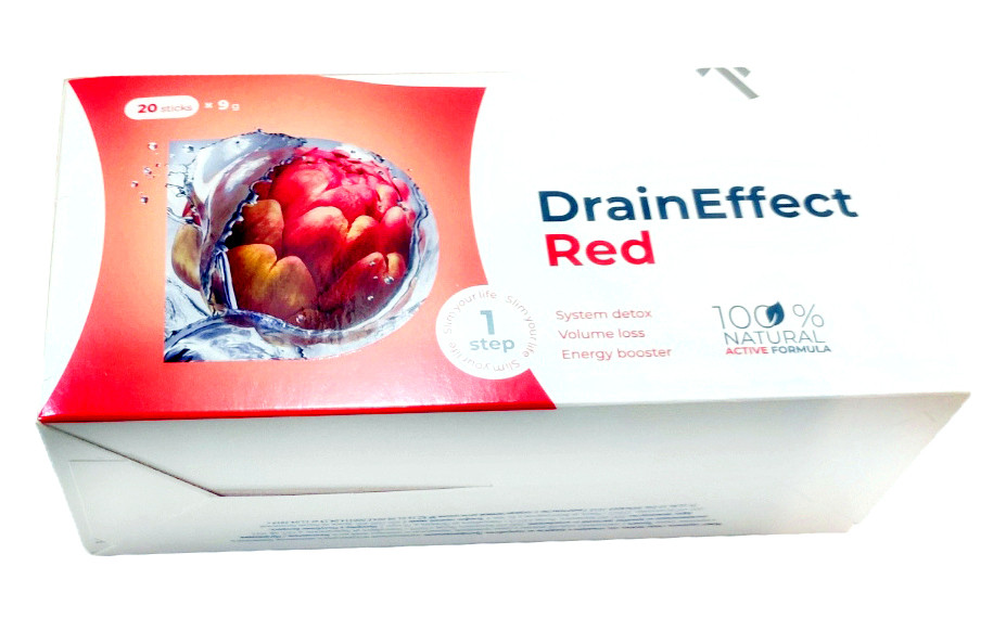 Дренуючий напій DrainEffect Red new система очищення виведення шлаків з організму для схуднення драйн ефект