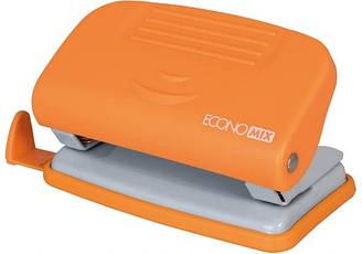 Дырокол Economix до 10 листов пластиковый оранжевый E40133-06