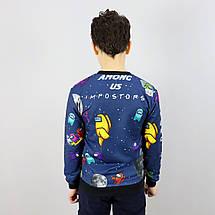 26884тсин Свитшот для мальчика AMONG US синий тм MUKO размер 7-8,10-11,12-13,13-14 лет, фото 3