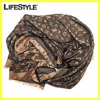 Платок большой, шарф в стиле Louis Vuitton / Женский теплый шарф