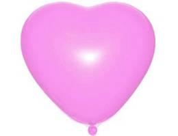 "Кулі серця 6"" 16 см пастель рожеві №06"