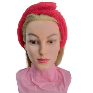 Повязка косметологическая - махра (на липучке) Красный