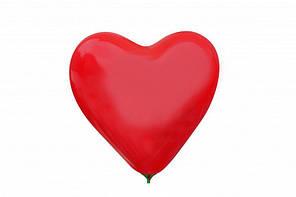 """Кулі серця 6"""" 16 см пастель червоні №45"""