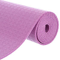Коврик для фитнеса и йоги PVC 4мм FI-1496 (размер 1,73мx0,61мx4мм, фиолетовый)