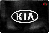 Антискользящий силиконовый коврик 20х13 на торпеду авто- KIA