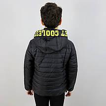 1878чер Чорна демісезонна куртка для хлопчика тм SEAGULL розмір 10,14 років, фото 3