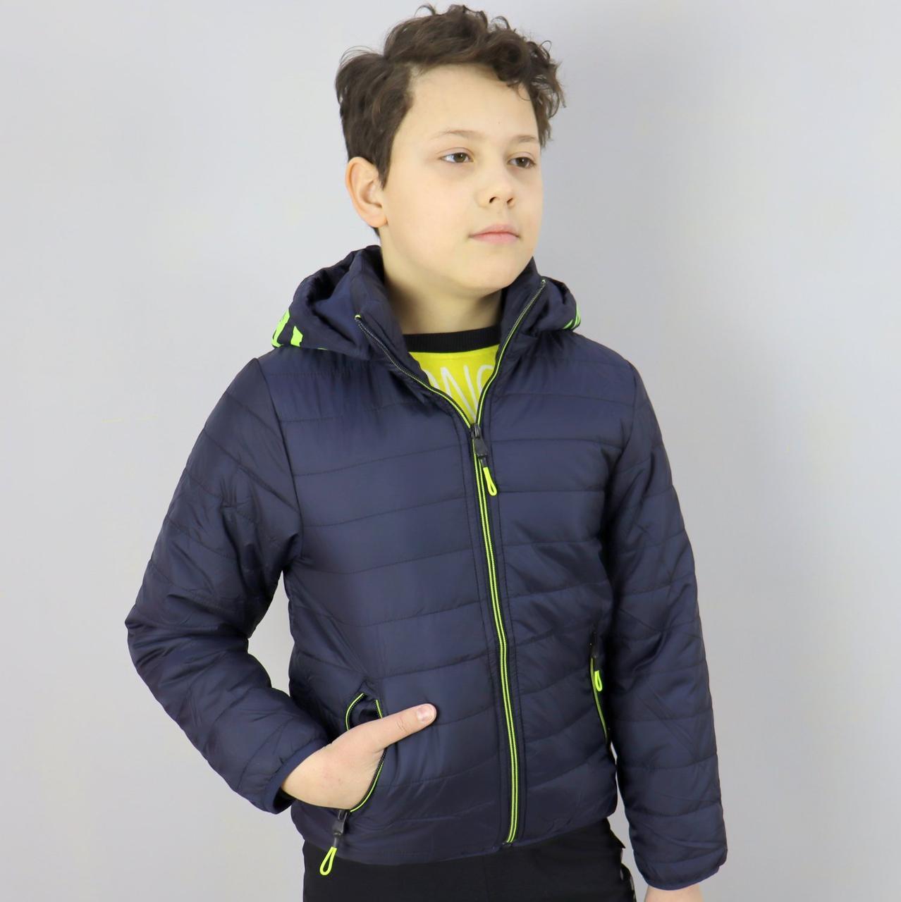 1878син Демісезонна куртка дитяча для хлопчика синя тм SEAGULL розмір 10 років