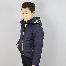 1878син Демісезонна куртка дитяча для хлопчика синя тм SEAGULL розмір 10 років, фото 3