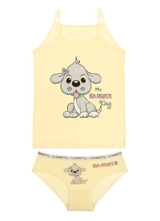 """Комплект """"My Dog"""", 6-7 лет (рост 122-128), цвет желтый"""