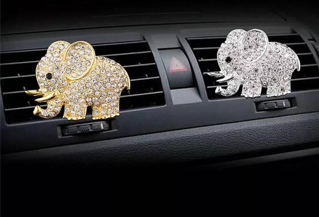 "Ароматизатор в авто ""Слон"" Золотистый, фото 2"