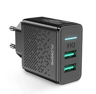 Зарядний пристрій Floveme 2 USB 5V/2.4 A 12W