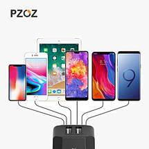 Зарядное устройство Pzoz 5V/2.1A на 2 USB порта (чёрный), фото 3