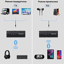 Bluetooth адаптер приймач передавач BT 5.0 ZF-360A, фото 3