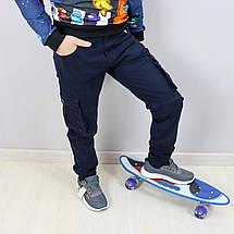 68006син Синие брюки джоггеры для мальчика тм SEAGULL размер 158,164 см, фото 3