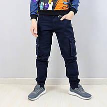 68006син Синие брюки джоггеры для мальчика тм SEAGULL размер 158,164 см, фото 2