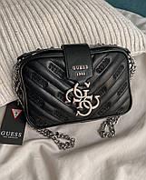 Жіноча сумка Guess Violet mini Black | Клатч Гесс Віолет міні Чорний