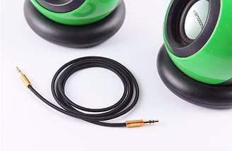 Аудіо кабель AUX MEIYI MY-301 0,5 m, фото 2