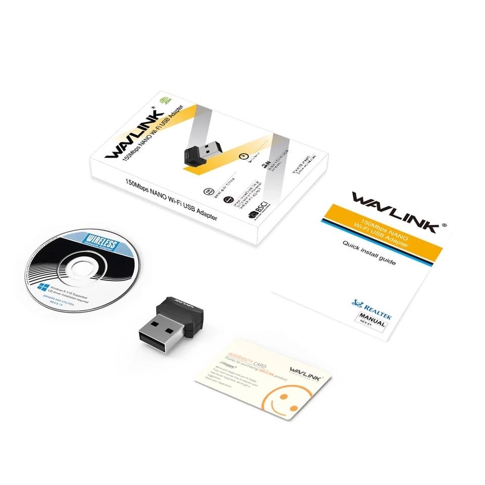 USB-WiFi адаптер WAVLINK 150 Мбит/с оригинал (WN687S1)