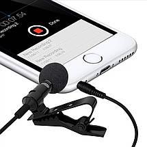Петличний мікрофон 3.5 мм mini-jack SHELKEE, фото 3