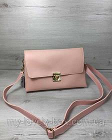Женская сумка- клатч Келли пудрового цвета