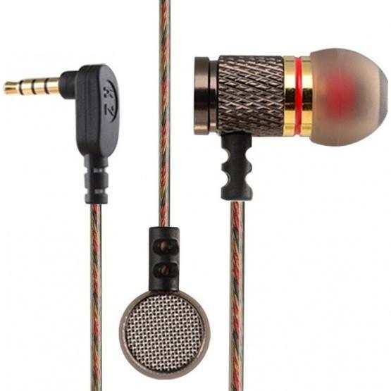 Наушники вакуумные Knowledge Zenith EDR1, с микрофоном, штекер 90°, 108 дБ, 16 Ом (KZ EDR1 Mic)
