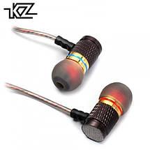 Наушники вакуумные Knowledge Zenith EDR1, с микрофоном, штекер 90°, 108 дБ, 16 Ом (KZ EDR1 Mic), фото 3