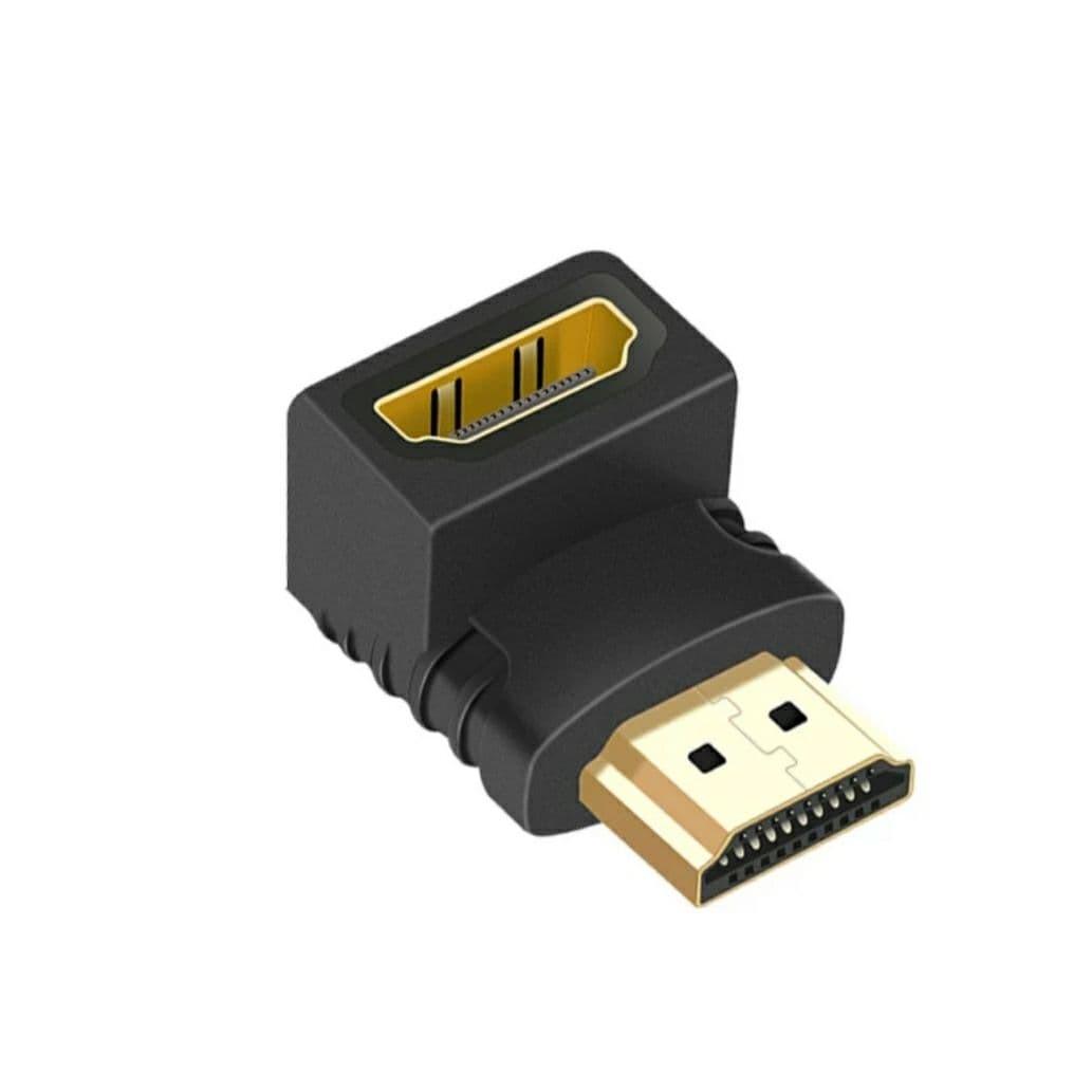 Переходник HDMI - HDMI угловой 90 градусов (штекер - гнездо)
