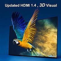 Переходник HDMI - HDMI угловой 90 градусов (штекер - гнездо), фото 3