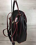 Рюкзак «Серце» чорний з червоним, фото 2