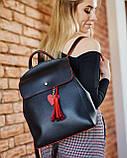 Рюкзак «Серце» чорний з червоним, фото 3