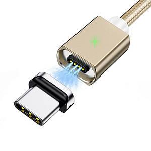Магнітний кабель Olaf USB Type-C 3A 1 метр (золотий)