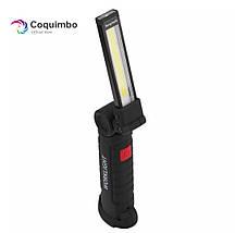 Портативный светодиодный фонарик Coquimbo с магнитом в основании и подзарядкой от сети, фото 2