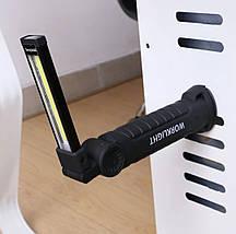 Портативный светодиодный фонарик Coquimbo с магнитом в основании и подзарядкой от сети, фото 3