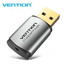 Внешняя звуковая карта USB 2 в 1 Vention CDLH0 стереофоническая 2.1 OMTP & CTIA, фото 2
