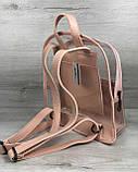 Рюкзак «Бонни» силиконовый прозрачный (пудра), фото 2