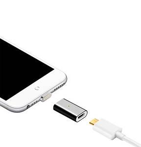 Перехідник на магнітну зарядку microUSB - Lighting Iphone (чорний)