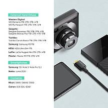 Кабель MicroUSB 3.0 DATA Cable Ugreen, для корпусів SSD, HDD (до 4ТБ), фотокамер, 2 метра (золоте напилення), фото 2