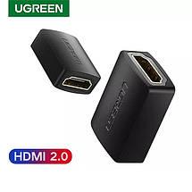 З'єднувач HDMI - HDMI (мама - мама) Ugreen, 4K, 60 Гц, підтримкою 3D, 4K*2K (гніздо - гніздо), фото 2