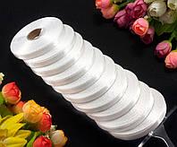 """Стрічка атласна оптом (шир. 0,6 см довжина 23 метри) """"LiaM"""" Ціна за 10шт Колір - айворі (теплий білий)"""