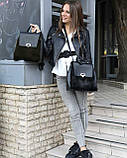 Женский рюкзак «Фаби»  с оливковым мехом, фото 4