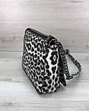 Стильна сумка Rika чорно-білий леопард, фото 2