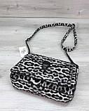 Стильна сумка Rika чорно-білий леопард, фото 3
