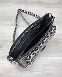 Стильна сумка Rika чорно-білий леопард, фото 4