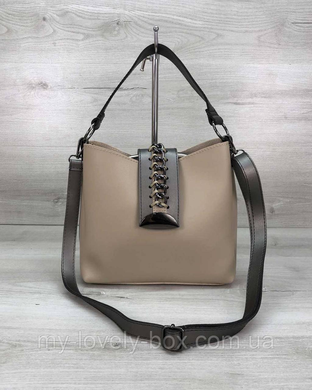 Жіноча сумка «Саті» бежева